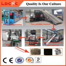 Schrott / Abfall / Gebraucht Reifen Recycling Line Factory mit Ce-Zertifikat