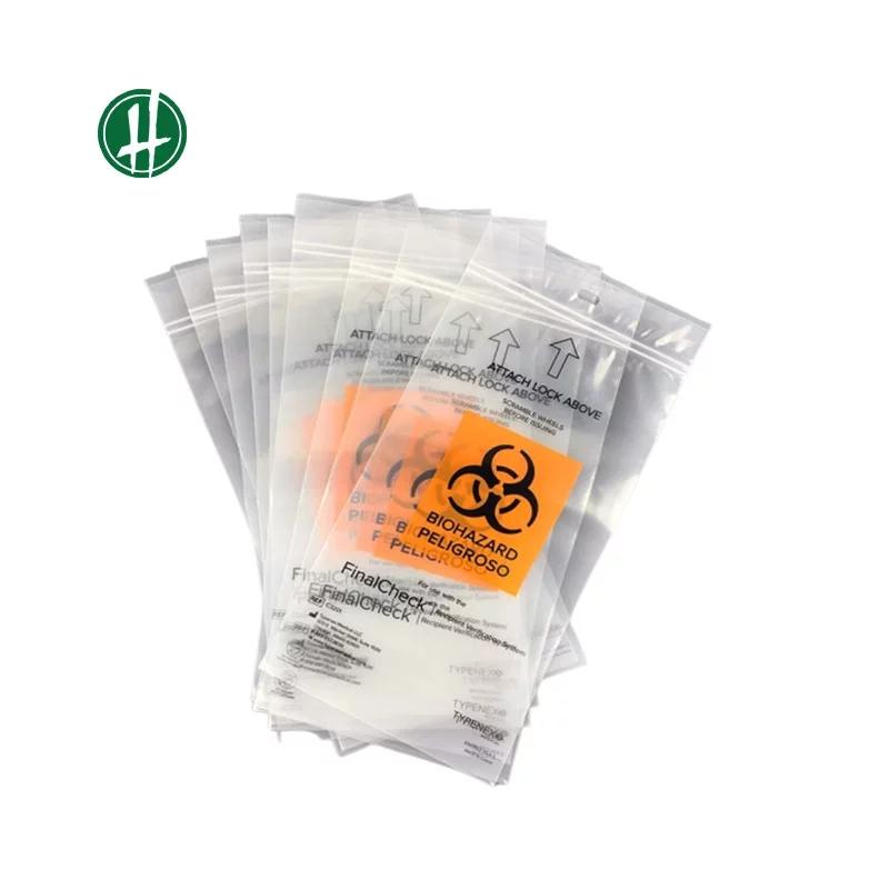 Ziplock Biodegradable Medical Transport Biohazard Bag