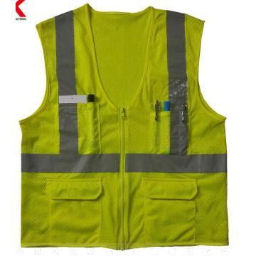 chaqueta de seguridad reflectante amarilla