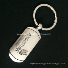 High Quality Double Plating Finishes Keychain with Laser Engraved Logo for Sales