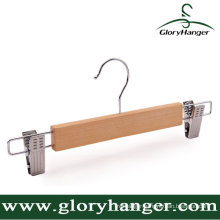 Wood Suit Trousers Hanger with Two Clip