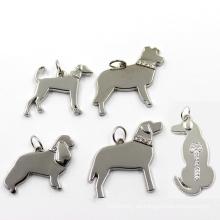 Metall Zink-Legierung Schmuck Silber Hund Mode Charm Anhänger