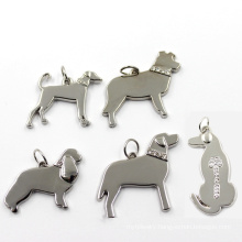 Metal Zinc Alloy Jewelry Silver Dog Fashion Charm Pendant