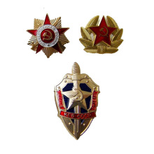 Russian Military Metal Badges Are Unisex Gifts