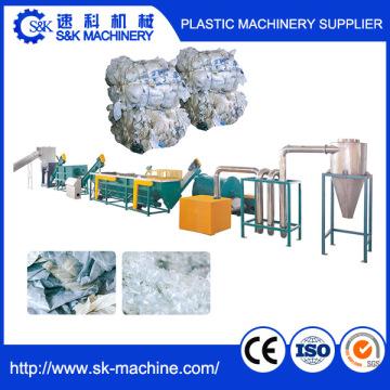 Máquina automática de reciclagem de resíduos para filmes plásticos sujos e sacos de tecido