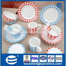 Vente en usine de vaisselle en porcelaine de style coréen en Chine