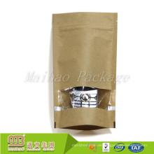 Nach Maß biologisch abbaubar stehen Sie oben Reißverschluss-Verschluss-Kraftpapier-Teebeutel