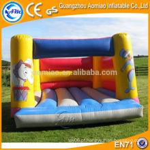 Jogo engraçado ao ar livre 0.55mm PVC salto castelo / bouncer inflável jogos infláveis para adultos