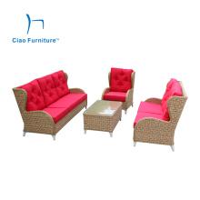 Luxury Garden Furniture European Style Wicker Sofa Set