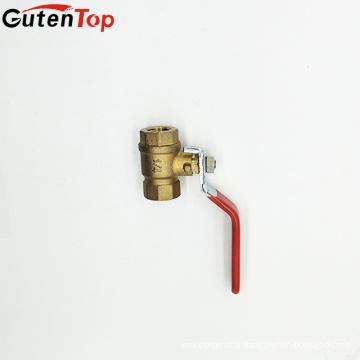 GutenTop HIgh Quality brass BSPT threaded ball valve with iron handle pn16
