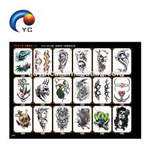 Tatuagens do ombro das grandes etiquetas do tatuagem do braço mangas para a pintura de corpo do homem
