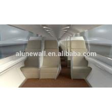 Painel composto de aço inoxidável interior do trilho de alta velocidade