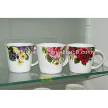 v-shape coffee tea milk juice water fine royal bone china sublimation mug made in china