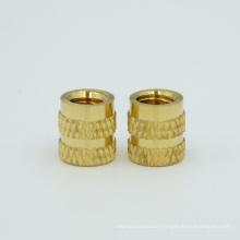 Molded copper nut knurled brass insert nut
