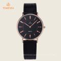 Moda japão movt qualidade pulseira de couro relógios 72334