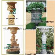 Granite Marble Vase Stone Garden Flowerpot by Hand Carved (YKFP-34)