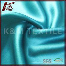 Сплошной цвет шелка атласная ткань для одежды