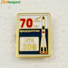 Emblema e botão de metal com design novo personalizado