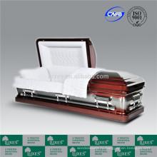Люкс 18ga металлические шкатулки гроб, сделанный в Китае Американский ларцы
