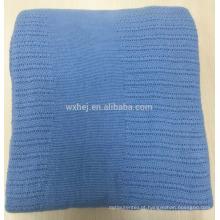 Cobertor térmico portátil por atacado de algodão da fábrica para a cama individual