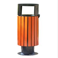 Outside Steel-Wood Garbage Bin (A13300)