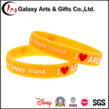 Chinese Manufacturer Fashion Style Vitality Advertizing Orange Embossed Silicon Wristband