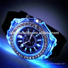 Trendy fashion silicone band led watch