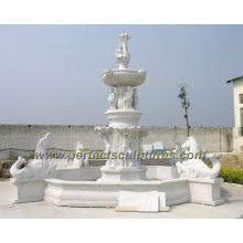 Carved Stone Fountain for Garden Water Fountain (SY-F214)