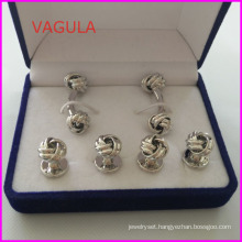 VAGULA New Quality Knot Cufflinks Collar Studs Buttons Hl161283