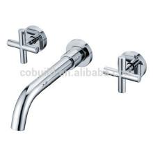 KI-17 torneira de lavatório de parede quente, conjuntos de chuveiro de banheiro, misturador de faucet de banheira de cachoeira montada na parede