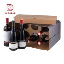 Custom printed fashion corrugated wine gift box 6 bottle