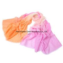 Bufanda grande del gradiente de señora Fashion Polyester