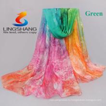 Новый шифон georgette silk scarf women Богемия длинные платки Весна и осень печать шарфы и обертывания солнцезащитный крем плащ