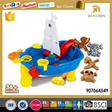 Plastic pirates beach boat toy