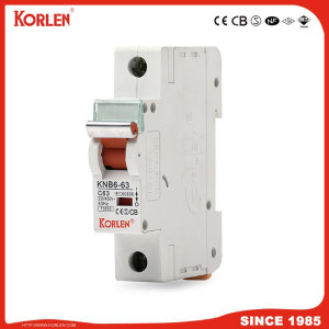 Korlen New Type Knb6-63 Miniature Circuit Breaker 10ka with Ce CB TUV IEC60898 MCB