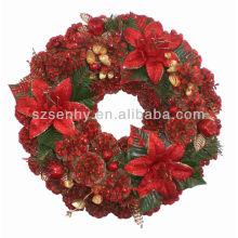 Искусственные оптом рождественские венки из сосновых шишек