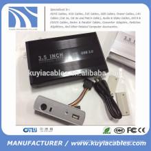 "Aluminiumlegierung USB 2.0 SATA 3.5 ""externes Festplattenlaufwerk / HDD Einschließung"