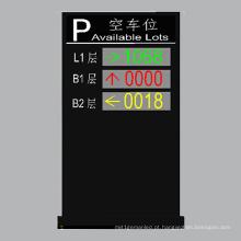 Outdoor P10 Dupla Cor e Três Camadas Display LED Estacionamento Disponível Lotes
