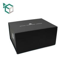 Dossier de présentation de carton gris Boîte de cadeau exquis