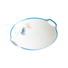 Creative new type of household special-shaped soup plate Chinese irregular plate melamine tableware