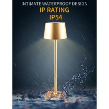 Lampes de table LED rechargeables sans fil en aluminium