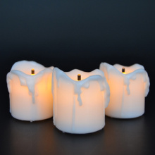 dripping flameless led tealight candle