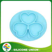 Non-slip heat-resistant silicone baby placemat plate