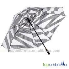 36 polegadas super grande resistente ao vento boa qualidade guarda-chuva de golfe atacado promoção com design de marca