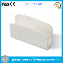 Kundenspezifischer weißer keramischer Servietten-Halter für Verkauf