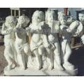 Piedra de mármol tallando estatua del ángel de la escultura de la querube (SY-X0156)