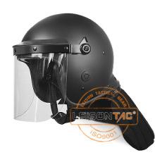 Riot Helmet Enhanced PC / ABS Material con impermeable y resistente a la llama