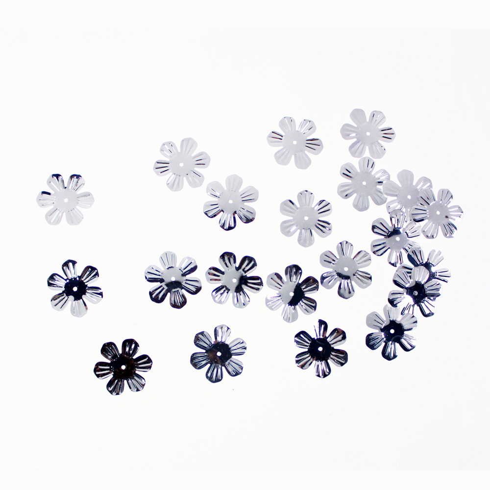 Silver Flower shape Sequin