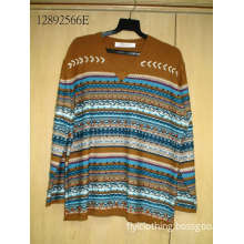 Knitted Sweater Colorful Coat