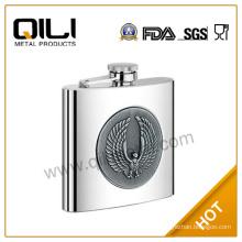 Eco-friendly 6oz metal body material bible hip flask